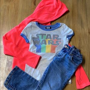 Size 4/5 Girls Star Wars Outfit (3piece)